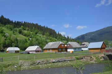 village in the mountains.Transcarpathia