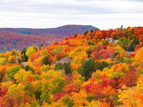 Autumn Landscape, Mont Tremblant, Laurentians, Quebec, Canada
