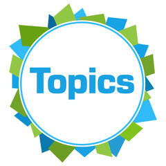 Topics Green Blue Random Shapes Circle