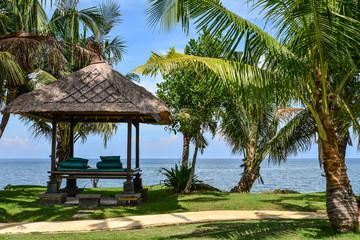 Pavilion near sea in luxury resort