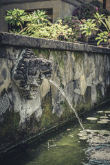 Fontain at Temple on Bali
