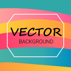 Abstract colored Background with Waves. Vector pattern with lines and waves.