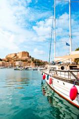 a view of Bonifacio, in Corse, France