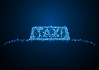 Taxi blue car roof sign