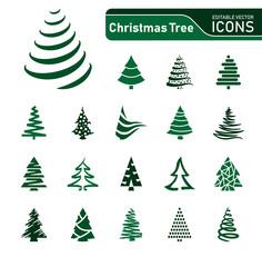 Christmas Tree - Icons Green