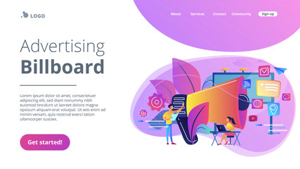 Marketing concept landing page.