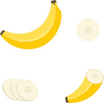 banana cartoon vector illustration cuts