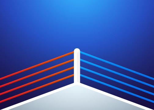 Boxing ring background. Vector illustration