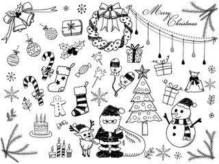 クリスマス 手描きイラスト