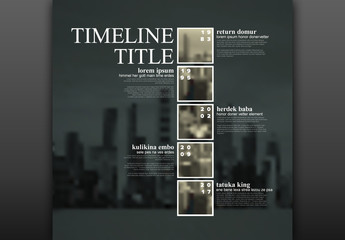 Sepia Timeline Infographic Layout