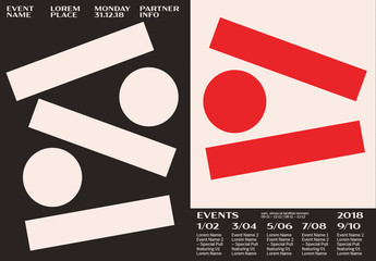 Poster Layout with Large Geometric Shapes