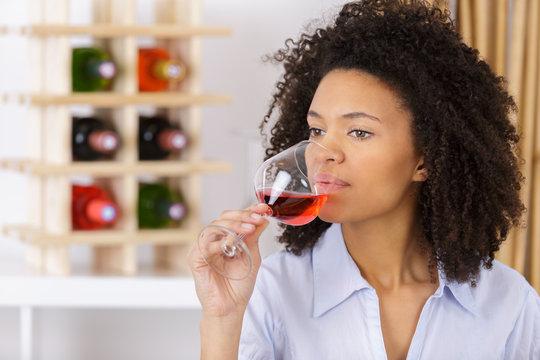 beautiful wine tasting tourist woman