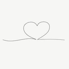 heart  with continuous line