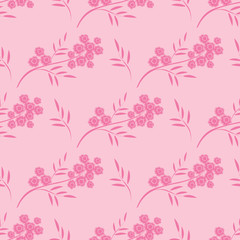 seamless pattern with flowering branch