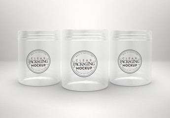 Clear Food Jars Mockup