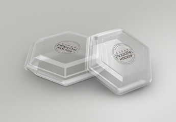 Clear Hexagon Container Mockup