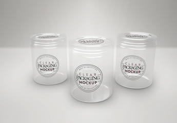 Clear Jars with Lids Mockup