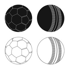 Vector design of sport and ball symbol. Collection of sport and athletic stock symbol for web.