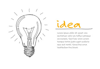 Infographic Layout with Light Bulb Illustration