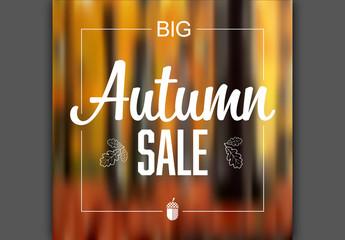 Autumn Sale Social Media Post Layout