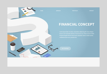 Isometric Financial Landing Page Concept