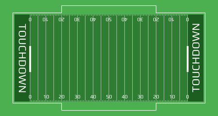 Vector flat rugby field illustration