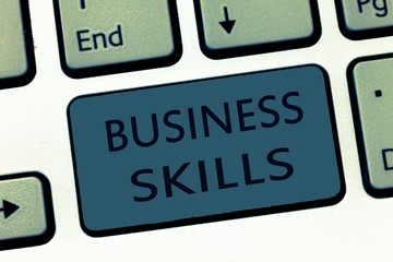 Word writing text Business Skills. Business concept for An ability to acquire systematic effort of job functions.