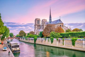 The beautiful Notre Dame de Paris in France