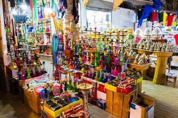 Hookah in souvenir shop at Rabat, Morocco in Africa