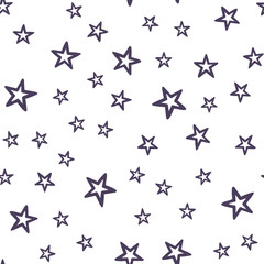Random colorful stars pattern, abstract background. Elegant and luxury style illustration