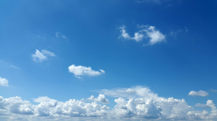light white clouds on blue sky