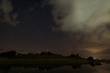 Night photography in Natural Area of Barruecos. Extremadura. Spain.