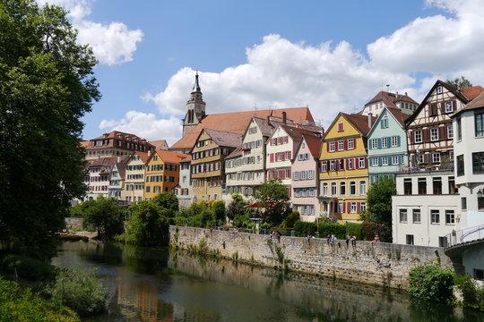 Panorama am Neckar in Tübingen
