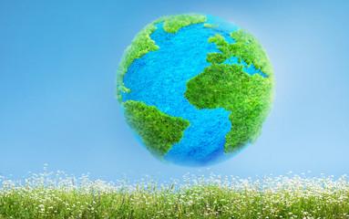 green Earth 3D illustration