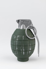 Hand grenade against a white background.