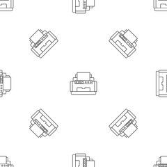 Laser printer pattern seamless vector repeat geometric for any web design