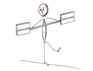 Balance zwischen online und offline