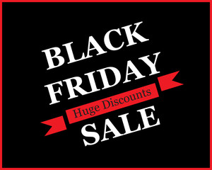 Black Friday-Huge Discounts Ribbon