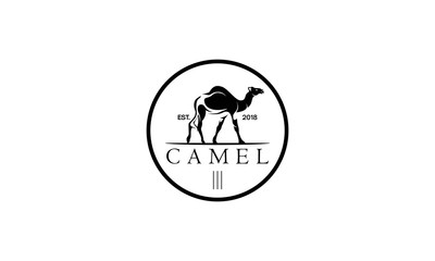 camel logo design template