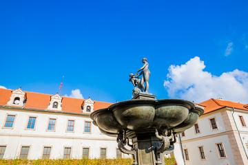 Dans les jardins du Palais Wallenstein à Prague