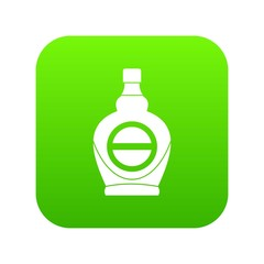 Maple syrup in glass bottle icon digital green for any design isolated on white vector illustration