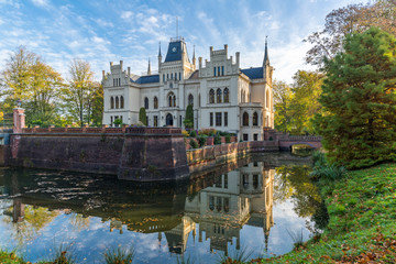 Evenburg Castle in Leer built in neo-Gothic style Fototapete
