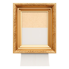 Picture frame with shredder, 3D rendering