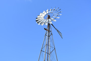 Windmill Against Perfect Blue Sky