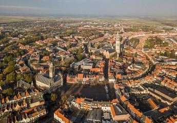 Aerial view of Middelburg, Zeeland