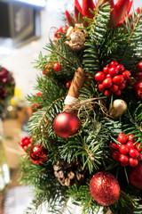 Christmas Ornaments on Christmas tree Decoration