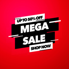 Vector illustration Sale banner template design with colorful gradient, Big sale special offer.