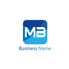 Initial Letter MB Logo Template Design