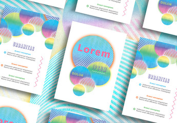 Colorful Patterned Circles Flyer