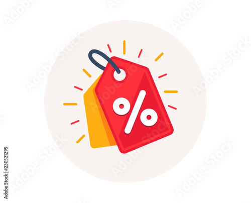 Discount offer tag icon  Shopping coupon symbol  Sale label